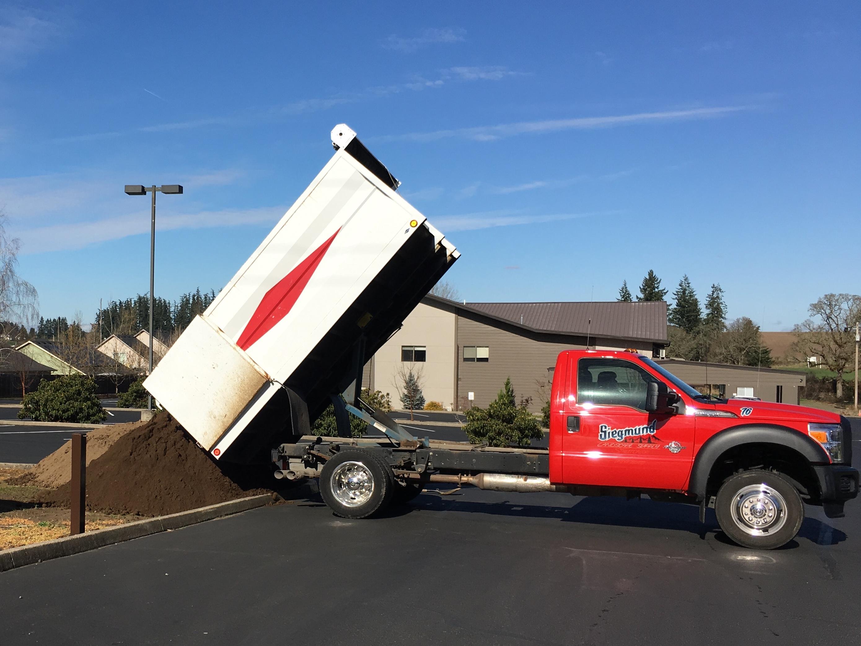 delivering landscape supplies