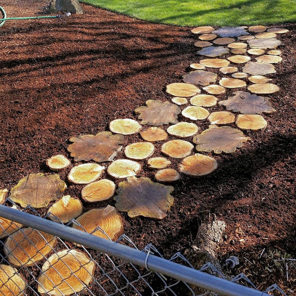 Wood rounds pathway