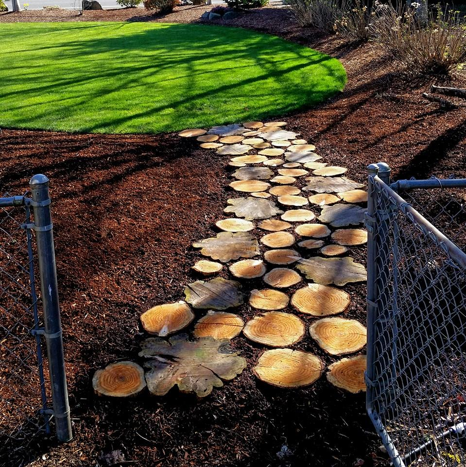using wood in landscaping
